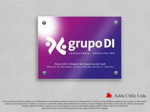 diseño letrero grupo di capacitacion